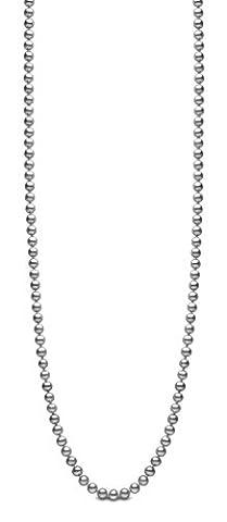 Kimura Pearls Silver 6.5 mm Grey Semi Round Cultured Freshwater