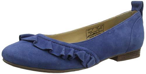 Hush Puppies Damen Willow Plateau Ballerinas, Blau (Blue 65), 39 EU -