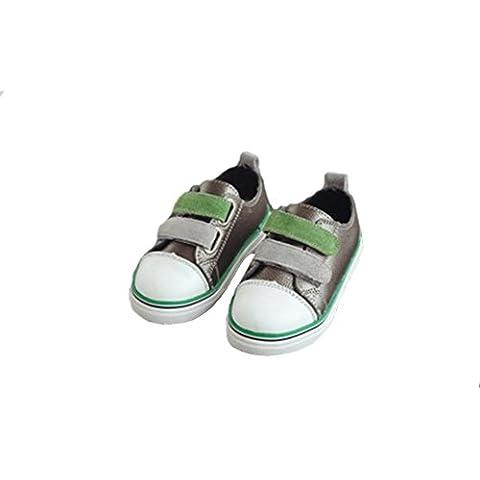 Goldore Baby Bambino morbida vera pelle di slittamento non Velcro Casual Scarpe Sneakers Consiglio 1-3 anni
