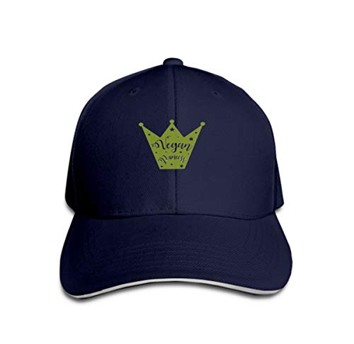 Cowboy Baseball Caps Unisex Trucker Style Hats Little vegan Princess Silhouette Crown Stars Inscription royal Navy