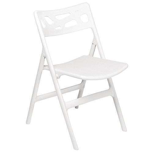 6 X Chaises Bolero Blanc Pliable Polypropylne Chaise Bistrot Cafe Sige Meubles