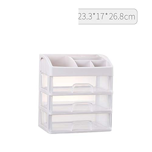 Kunststoff Multi funktion Kosmetischen aufbewahrungsbox, Schublade stifthalter Acryl kunststoff Schminktisch Veranstalter Lippenstift Hautpflege Inhaber-V 23x17x27cm(9x7x11inch)