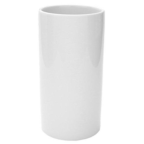 "Holst Porzellan RV 020 Porzellanvase ""Röhre"" 20 cm, weiß, 10 x 10 x 20 cm"