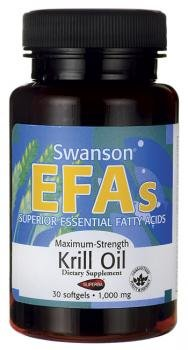 Swanson EFAs Max Strength Krill Oil (1000mg, 30 Softgels) by Swanson Health Products