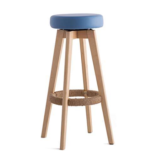 Hohe Rückenlehne Aus Bugholz Stuhl (Barhocker aus Holz Pub Counter Height Barhocker Hohe Stühle mit drehbarem gepolstertem Sitz und Fußstütze Wohnmöbel Hocker Soft Chair)