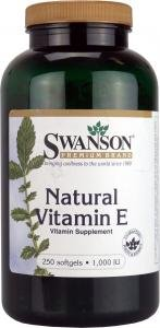 Swanson Natural Vitamin E (1,000iu, 250 Softgels) from Swanson Health Products