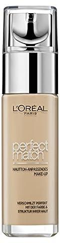 L'Oréal Paris Foundation Perfect Match, deckendes Make Up - perfekte Verschmelzung mit dem Hautton & 24h Feuchtigkeit
