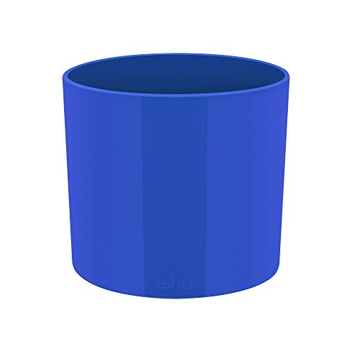 elho pot de fleurs - b.for diamond rond 7cm bleu royal - 6.7 x 6.7 x 6.5 cm