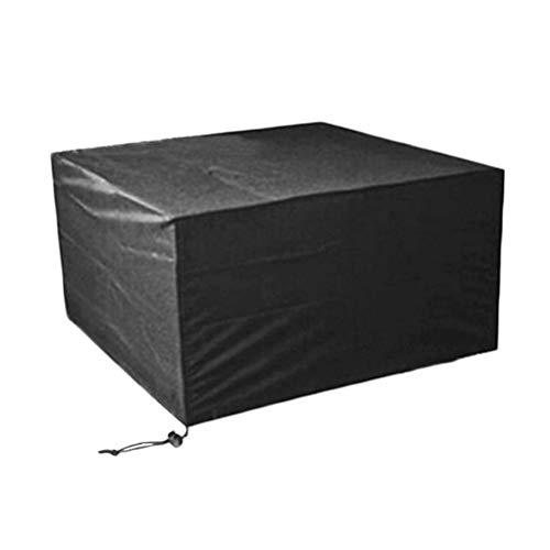 Square Patio-möbel-abdeckungen (HYDT Möbelsets Schwarze Tisch Stuhl Set Abdeckungen - Outdoor Patio Square Möbel Abdeckung, 210D wasserdichtes Tuch Esstisch Abdeckung (Size : 135×135×75cm))