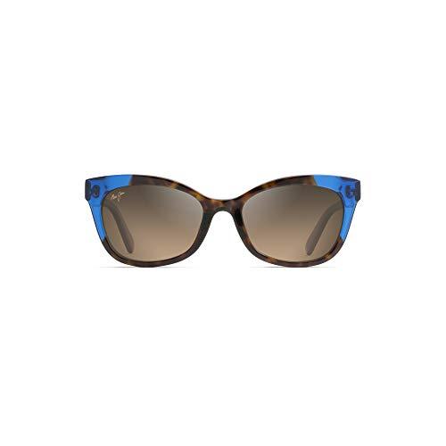 Maui Jim HS759 68 Tortoise / Electric Blue Ilima Cats Eyes Sunglasses Polarised Lens Category 3 Lens Mirrored Size 53mm