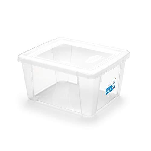 Stefanplast Visual Box Mehrzweck-Fall, klein, 19x 16x 10cm, transparent -