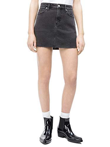 Calvin Klein Jeans Damen Rock Grey Denim 26 - Calvin Klein Jeans-rock