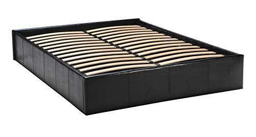 Weber Industries 035516 Contemporain Torino Lit Coffre Polyuréthane Noir 140 x 190 cm