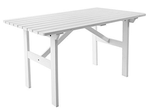 Ambientehome Gartentisch Tisch Massivholz Esstisch HANKO, Weiß -