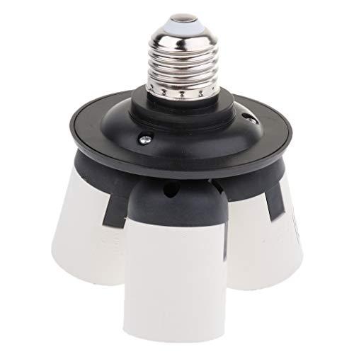 FLAMEER 3 in 1 E27 auf E27 Sockel Lampenfassung Buchse Splitter Konverter -