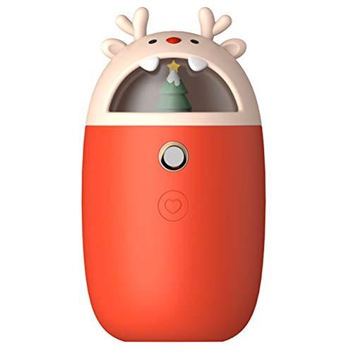 Dofcoc scaldino della mano 7800mah carino alci usb potere mobile del mini umidificatore simpatico cartone animato cellulare, regalo di natale, più caldo mano portatile,rosso,7800mah