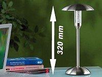 Lunartec LED-Tischlampe aus gebürstetem Edelstahl von Lunartec bei Lampenhans.de