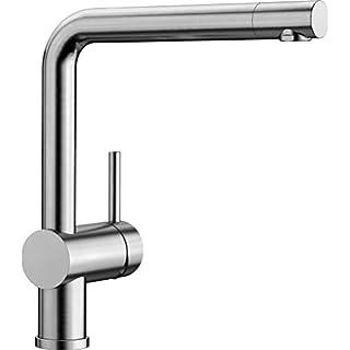 Blanco Linus Küchenarmatur, metallische Oberfläche, Edelstahl gebürstet, Hochdruck, 1 Stück, 517183