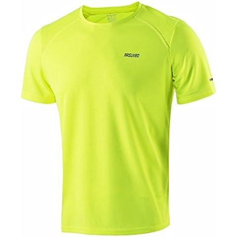 MaMaison007 ARSUXEO hombres verano correr T Camisas manga corta activa formación seca rápido Jersey deportes