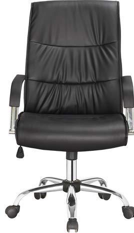 Bürostuhl Drehstuhl Chefsessel Computertischstuhl Schreibtischstuhl Dunkelgrau Ergonomisch Höhenverstellbar Netzrücken (Schwarz, Chefsessel)