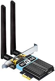 تدعم بطاقة الواي فاي OKN WiFi 6E AX5400 PCIe 6 جيجا بايت، حتى 5400 ميجا بايت في الثانية، بلوتوث 5.2، 802.11AX