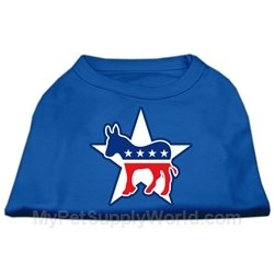 Mirage Pet Products 40,6 cm Demokrat Screen Print Shirts für Haustiere, Large, Blau (Demokrat Hund T-shirt)