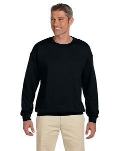 Jerzees Super Sweats Cotton/Poly Crewneck Fleece Sweatshirt - Black, 3XL - Super Sweat Crewneck Sweatshirt
