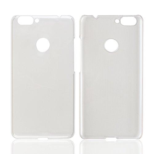 Owbb Hülle für BLUBOO Dual Smartphone Handyhülle Ultradünne PC Kunststoff-Hard Case mit Backcover Design Hochwertige Anti-Wrestling Function Weiß Transparent