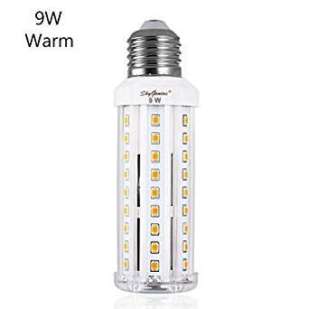 Ampoule Led E27 Mais 9W Blanc Chaud équivalent à 70W,Lampe