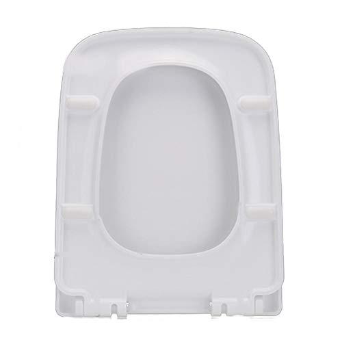 Biback Premium Verdickter Toilettensitz mit Deckel, weiß Schnellverschluss für einfache Reinigung, passend für altmodische große V-Form U-Form quadratisch O-förmig, a, Rounded Square 04a