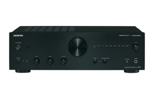 Onkyo A-9050-B - Amplificador esterero integrado (75 W por canal, DAC 192 KHz/24Bit, fonográfico) color negro
