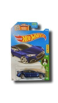 Hot Wheels, 2016 HW Green Speed, Tesla Model S [Blue] Die-Cast Vehicle # 242/250 by Hot Wheels