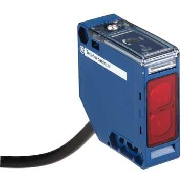 Schneider XUK9ARCNL2 XUK-Optoe. Sensor, Reflexions-Lichts.r. polar., Sn 5m, 24-240 V AC/DC, Kabel, 2m (Licht Sn 8)