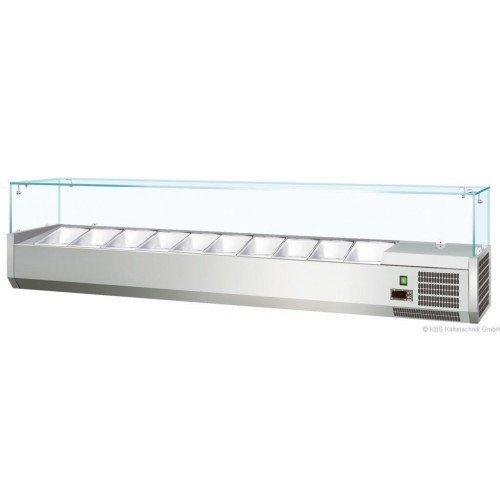 KBS RX 1800 - Kühlaufsatz mit Glasaufbau - 8 x GN 1/3