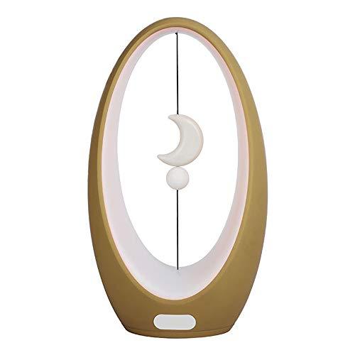 DYHQQ Balance LED Lampe de Table Switch Mid-Air Interface USB-Balance Light Salon, Salle à Manger et Table de Bureau,C
