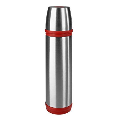 Emsa 507517 Isolierflasche, Mobil genießen, 500 ml, Schraubverschluss, Edelstahl/Rot, Captain