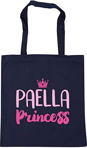 Hippowarehouse Paella princess Tote Shopping Gym Beach Bag 42cm x38cm, 10 litres
