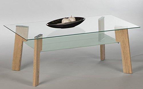 Couchtisch Johnny16770 Wohnzimmertisch Tisch Glastisch Eiche Sonoma