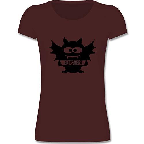 Anlässe Kinder - Fledermaus - 152-164 (12-14 Jahre) - Burgund - F288K - Mädchen T-Shirt
