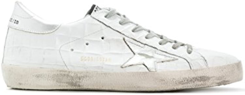 Golden Goose Herren G32MS590D98 Weiss Leder Sneakers