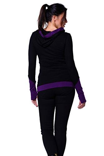 zauberhafter Damen Hoodie mit Daumenloch der Marke 3Elfen - fair produziert - Lila