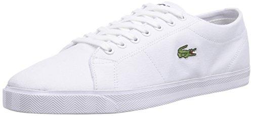 Lacoste MARCEL LCR2, Low-Top Sneaker uomo, Bianco (Weiß (WHT/WHT 21G)), 40.5