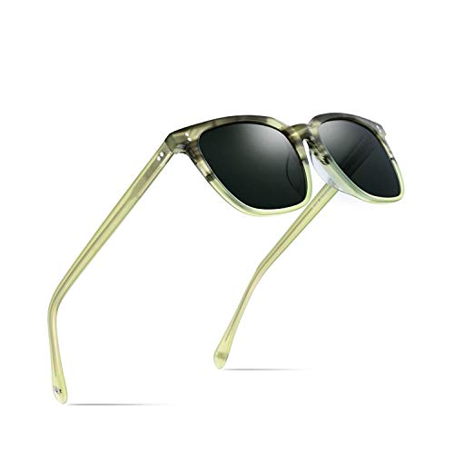 Sportbrillen, Angeln Golfbrille,Acetate Polarisiert Sunglasses Men NEW High Quality Fashion Brand Designer Vintage Square Sun Glasses For Women Goggles Sunglass Clear Green