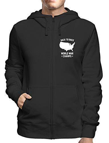 Sweatshirt Hoodie Zip Schwarz FUN0667 Back to Back Champs Detail Champ Zip Hoodie