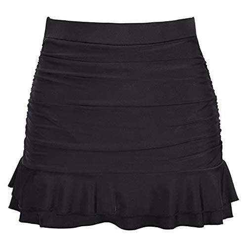 Bademode Bikini Frauen Rock Bikini Bottom Hohe Taille Solide Plissee Bottom Ruffle Badeanzug -