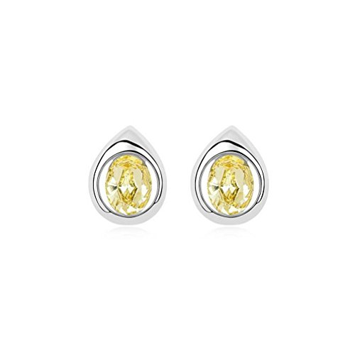 Erica Cristal mousseux autrichien Fashion Boucles d'oreilles Simple cadeau parfait pour les femmes yellow