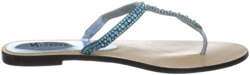 Unze L18340W, Chaussures basses femme Turquoise (L18340W)