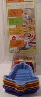 Kuchenform - Backform - Glocke - 6 Stück - 100% Silikon - 11 cm x 9 cm - 3 cm hoch