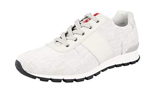 Prada Herren 4E2718 1OSC F0W5 Sneaker, Weiá (Bianco Cristall), 44 EU (Männer Prada Schuhe)