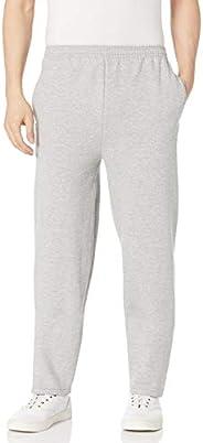 Hanes Men's EcoSmart Open Leg Fleece Pant with Poc
